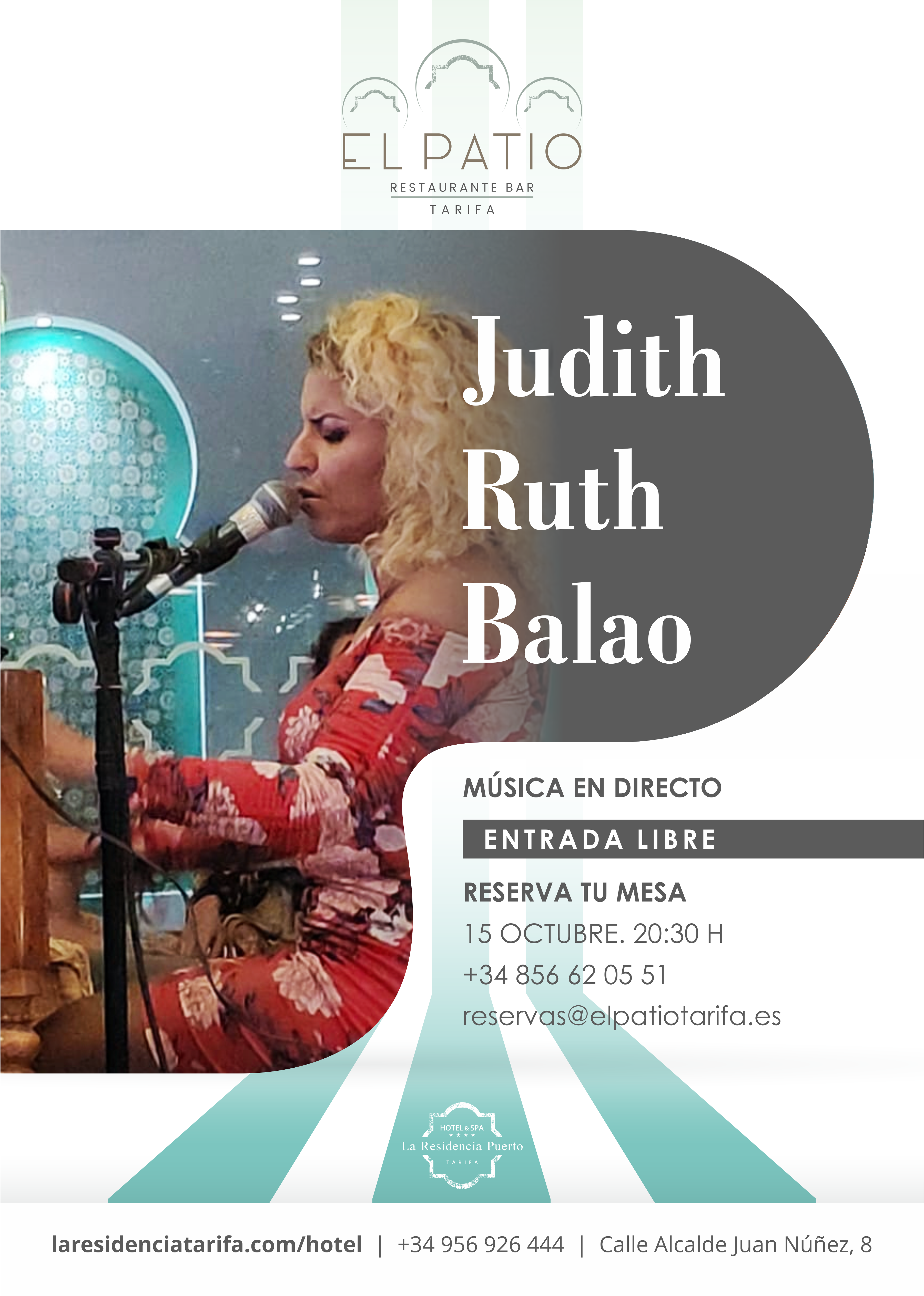 Evento musical con Judith Ruth Balao, en El Patio